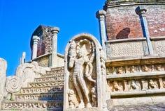 De Ruïnes van Polonnaruwa, tweede - oudst van de koninkrijken van Sri Lanka Stock Foto's