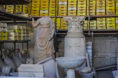 De ruïnes van Pompei Royalty-vrije Stock Foto's