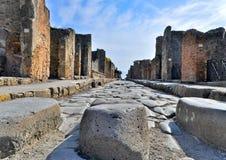 De Ruïnes van Pompei Royalty-vrije Stock Foto