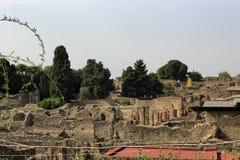 De ruïnes van Pompei Stock Afbeelding