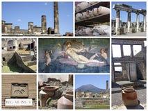 De ruïnes van Pompei in Italië Stock Afbeeldingen