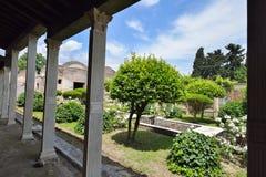 De ruïnes van Pompei na de uitbarsting van de Vesuvius in Pompei, Italië op 01 Juni, 2016 royalty-vrije stock foto's