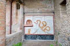 De ruïnes van Pompei na de uitbarsting van de Vesuvius in Pompei, Italië op 01 Juni, 2016 royalty-vrije stock afbeelding