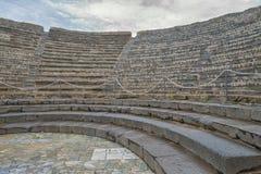 De ruïnes van Pompei na de uitbarsting van de Vesuvius in Pompei, Italië op 01 Juni, 2016 stock foto's