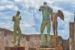 De ruïnes van Pompei na de uitbarsting van de Vesuvius in Pompei, Italië op 01 Juni, 2016 stock fotografie