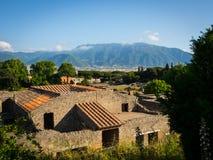 De ruïnes van Pompei zonder toeristen Stock Afbeelding