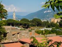 De ruïnes van Pompei zonder toeristen Stock Afbeeldingen