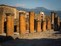 De ruïnes van Pompei zonder toeristen Royalty-vrije Stock Fotografie