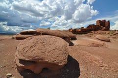 De Ruïnes van Pueblo van Wukoki Stock Afbeeldingen