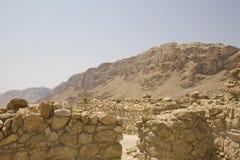De ruïnes van Qumran Royalty-vrije Stock Afbeeldingen