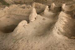 De ruïnes van Sarazm, Tadzjikistan stock afbeeldingen