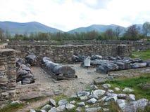 De ruïnes van Sarmisegetusakolommen Stock Fotografie