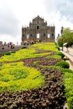 De Ruïnes van St Paul, één van de beroemdste oriëntatiepunten van Macao Stock Foto