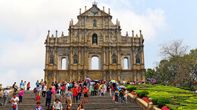 De ruïnes van st. Paul kerk, Macao Stock Fotografie