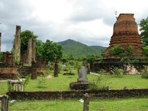 De Ruïnes van Sukhothai Royalty-vrije Stock Afbeeldingen