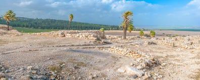 De ruïnes van tel. Megiddo Stock Fotografie