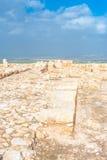 De ruïnes van tel. Megiddo Stock Afbeelding
