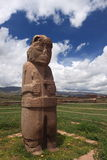 De Ruïnes van Tiwanaku, La Paz Stock Foto's