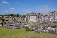 De ruïnes van Tulum Stock Afbeeldingen