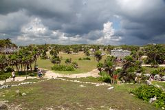 De Ruïnes van Tulum Royalty-vrije Stock Afbeelding