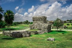 De Ruïnes van Tulum royalty-vrije stock foto