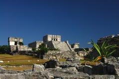 De Ruïnes van Tulum, Mexico Royalty-vrije Stock Afbeeldingen