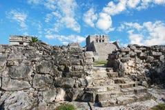 De ruïnes van Tulum in Mexico royalty-vrije stock foto