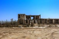 De ruïnes van de vroegere Ottomanezeehaven en de douane in Al Ahsa, Saudi-Arabië royalty-vrije stock afbeeldingen