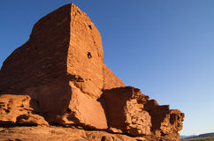 De Ruïnes van Wupatki Stock Foto