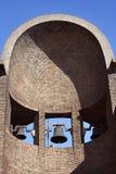 De ruïnesdeur van Poggioreale in balkon Stock Foto