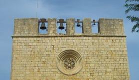 De ruïnesdeur van Poggioreale in balkon stock afbeeldingen