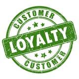 De rubber vectorzegel van de klantenloyaliteit Royalty-vrije Stock Foto's