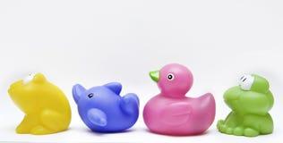 De rubbergroep van het stuk speelgoed Stock Afbeeldingen