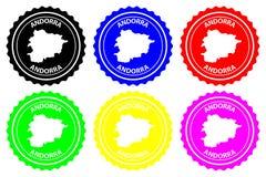 De rubberzegel van Andorra vector illustratie