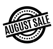 De rubberzegel van August Sale Stock Afbeelding