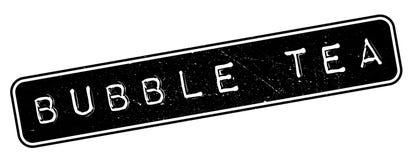De rubberzegel van de bellenthee Stock Afbeelding