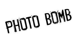 De rubberzegel van de fotobom Stock Afbeeldingen