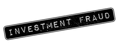 De rubberzegel van de investeringsfraude Royalty-vrije Stock Fotografie