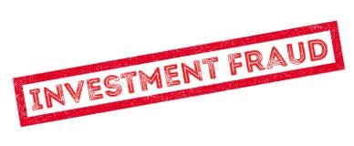 De rubberzegel van de investeringsfraude Stock Afbeelding