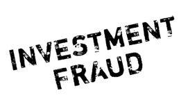 De rubberzegel van de investeringsfraude Stock Foto