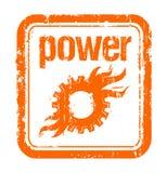 De rubberzegel van de macht Stock Foto