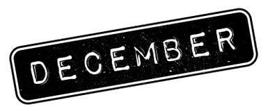 De rubberzegel van december Royalty-vrije Stock Afbeeldingen