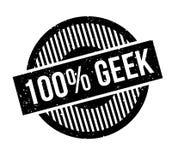 100 de rubberzegel van Geek Stock Afbeeldingen