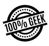 100 de rubberzegel van Geek Stock Fotografie