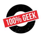100 de rubberzegel van Geek Royalty-vrije Stock Foto