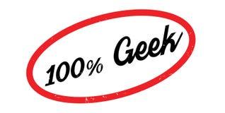 100 de rubberzegel van Geek Royalty-vrije Stock Afbeeldingen