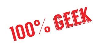 100 de rubberzegel van Geek Royalty-vrije Stock Fotografie