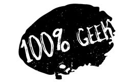 100 de rubberzegel van Geek Stock Foto