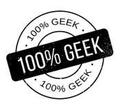 100 de rubberzegel van Geek Stock Afbeelding