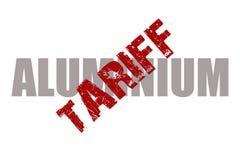 De rubberzegel van het aluminiumtarief Stock Foto